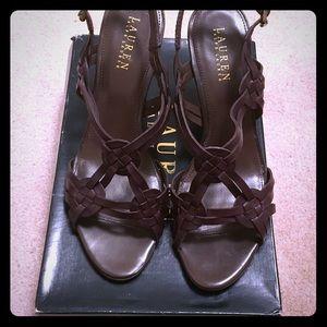 Ralph Lauren Delaney Wedge Sandals Size 10